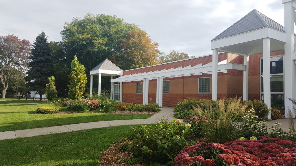 The exterior of the Strangway Centre