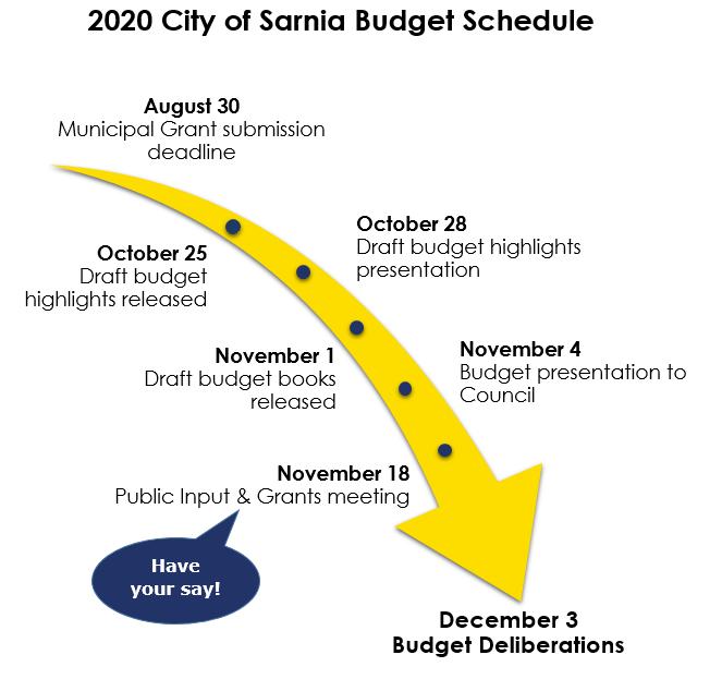 2020 Budget Schedule
